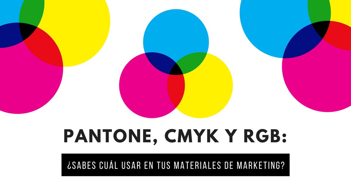 Colores RGB, CMYK y Pantone
