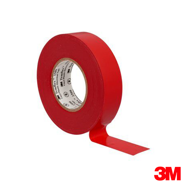 Rollo 3M Temflex Rojo 18mm x 20m