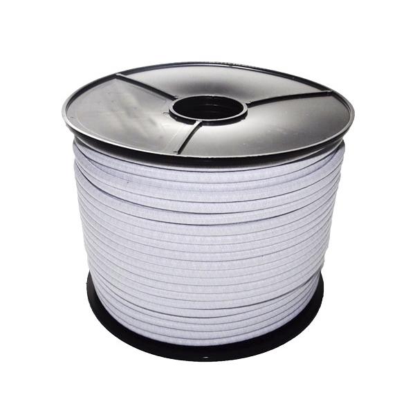 Bobina Cordon Blanco Elastico diametro 6mm x 100 metros